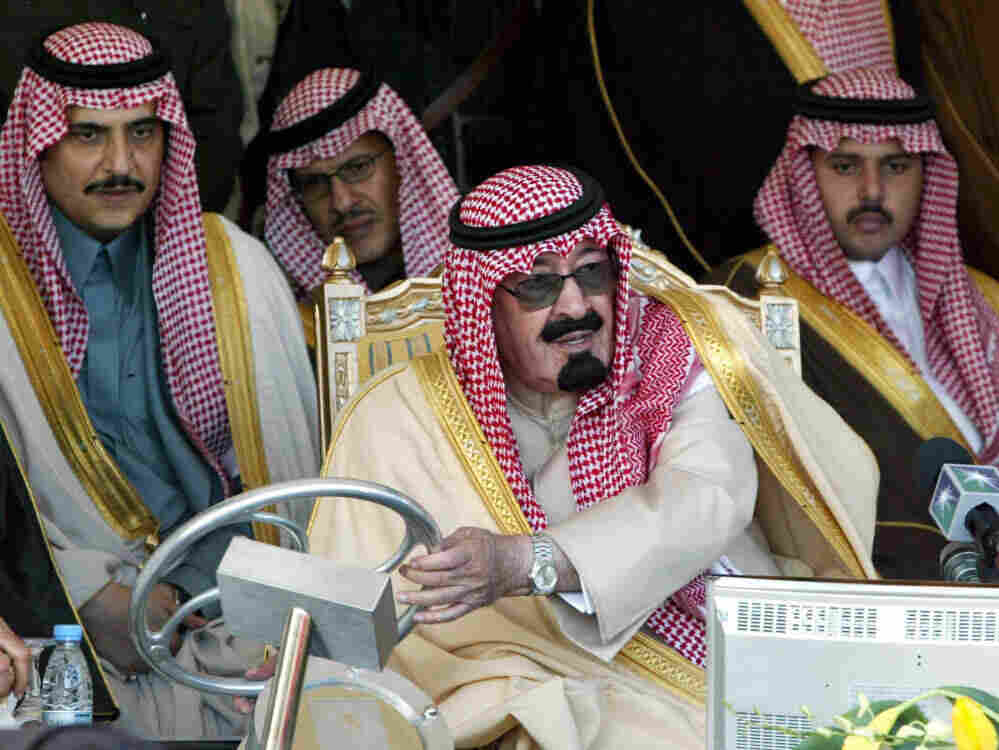 Saudi Crown Prince Abdullah bin Abdel Aziz inaugurates the Al-Qatif new oil production plant.