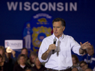 Republican presidential candidate Mitt Romney campaigns in Muskego, Wis., on Saturday.