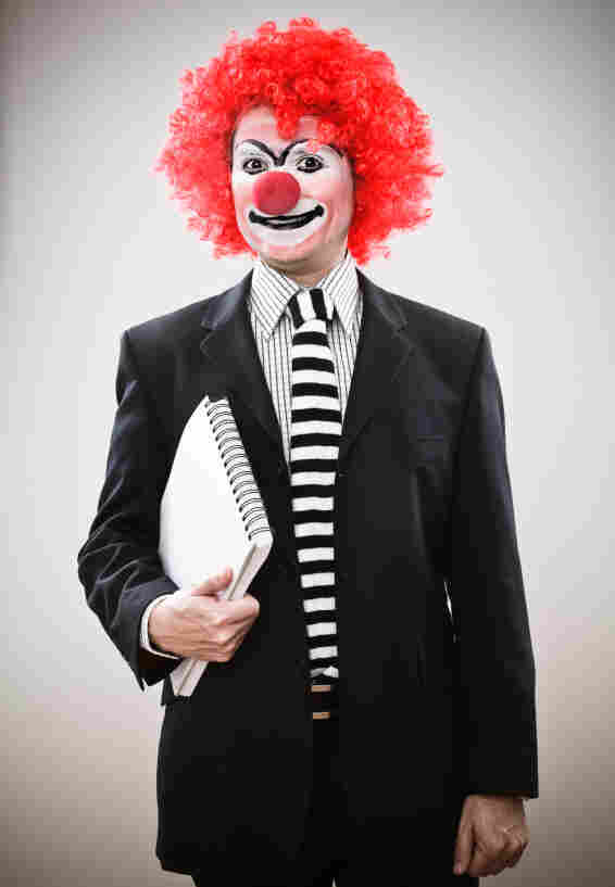 Business clown.