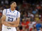 Anthony Davis of Kentucky during Saturday's victory over Louisville.