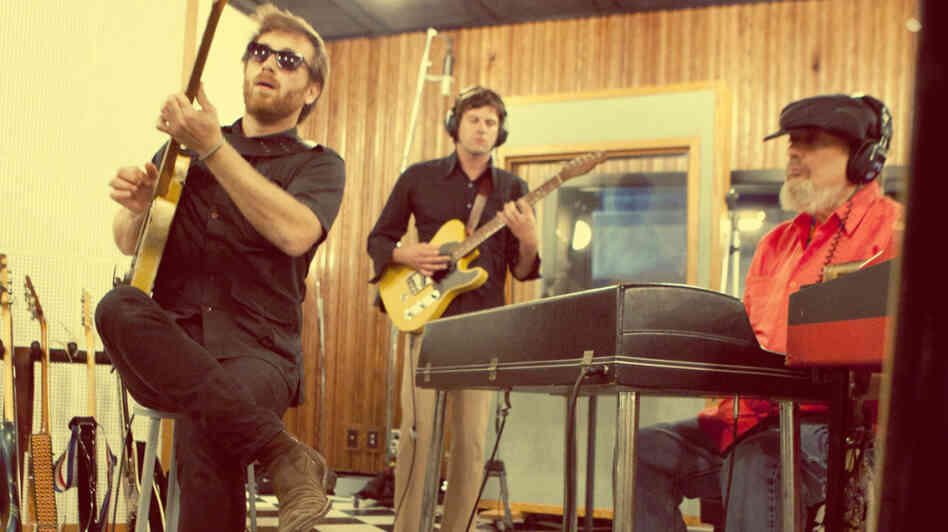 Dan Auerbach (left) joins Dr. John on the latter's new album, Locked Down.