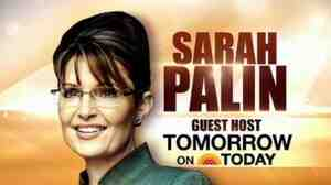 Gov. Palin will be on The Today Show Tuesday.