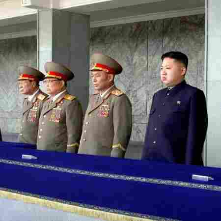 In a photo released by North Korea's Korean Central Agency, North Korean leader Kim Jong Un (third from right) and other senior leaders attend a memorial service in Pyongyang, March 25, marking the 100th day since the death of Kim's father, Kim Jong Il. North Korea has been sending the world mixed messages since the death of the elder Kim.