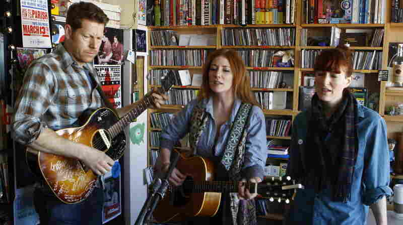 Kathleen Edwards performs a Tiny Desk Concert at the NPR Music offices.