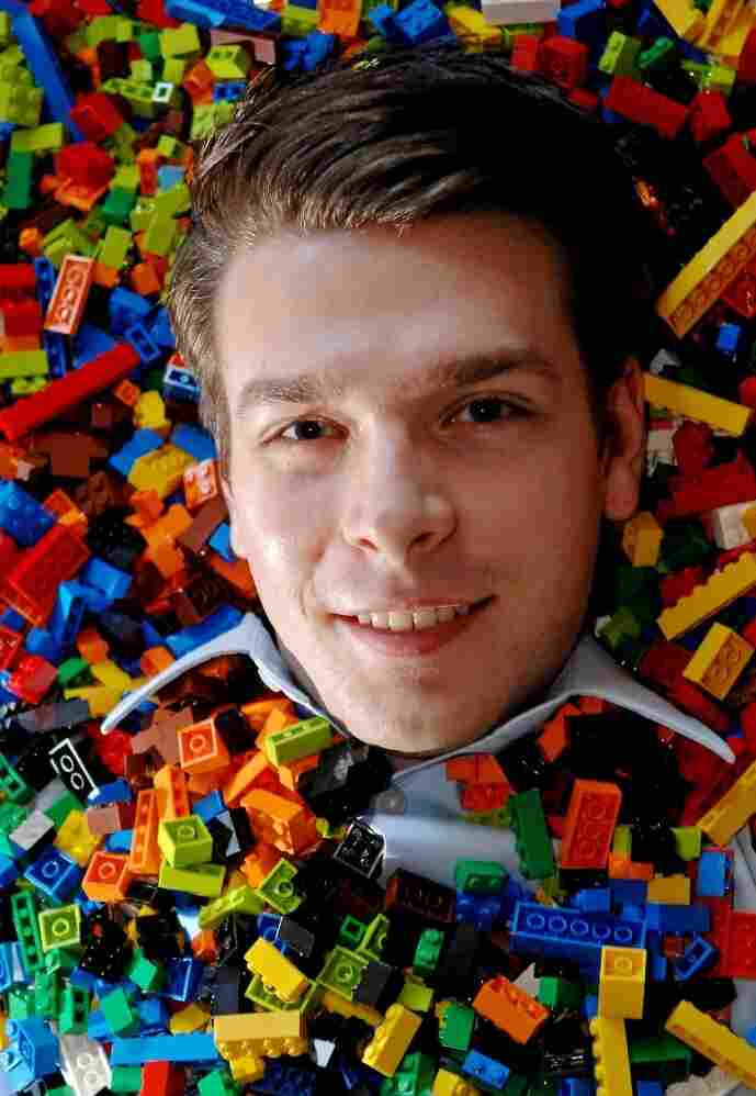 Andrew Johnson, 23, of Bartlett, Ill. has been named the new master model builder of Legoland Discovery Center Chicago after competing for the job against seven other finalists.