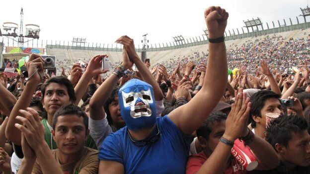 More than 200,000 people gathered in Mexico City's Foro Sol to listen to bands from across Latin America.