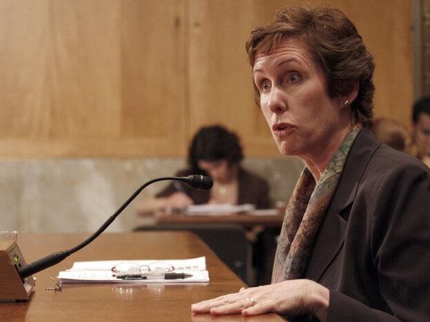 Former GSA administrator Martha Johnson on Capitol Hill in June  2009.