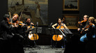 Violinist Daniel Hope (second from left) gathers fellow string players at the 2012 Savannah Music Festival for a concert of Russian chamber music.