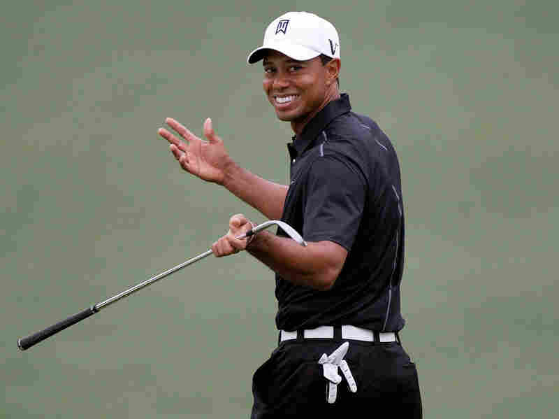 Tiger Woods at a practice round ahead of the 2012 Masters Tournament, which begins Thursday in Augusta, Ga. Woods receives the lion's share of press coverage despite his poor record over the past several years.