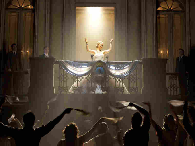 Ricky Martin, Elena Roger, and Michael Cerveris star in the revival of Rice and Lloyd Webber's Evita, directed by Michael Grandage.