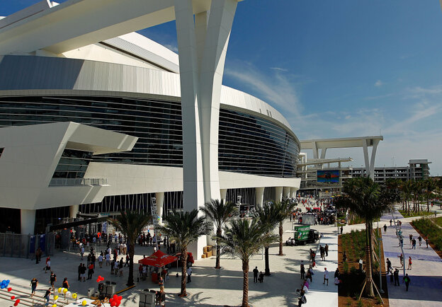 An exterior view during Opening Day between the Miami Marlins and the St. Louis Cardinals at Marlins Park on Wednesday.