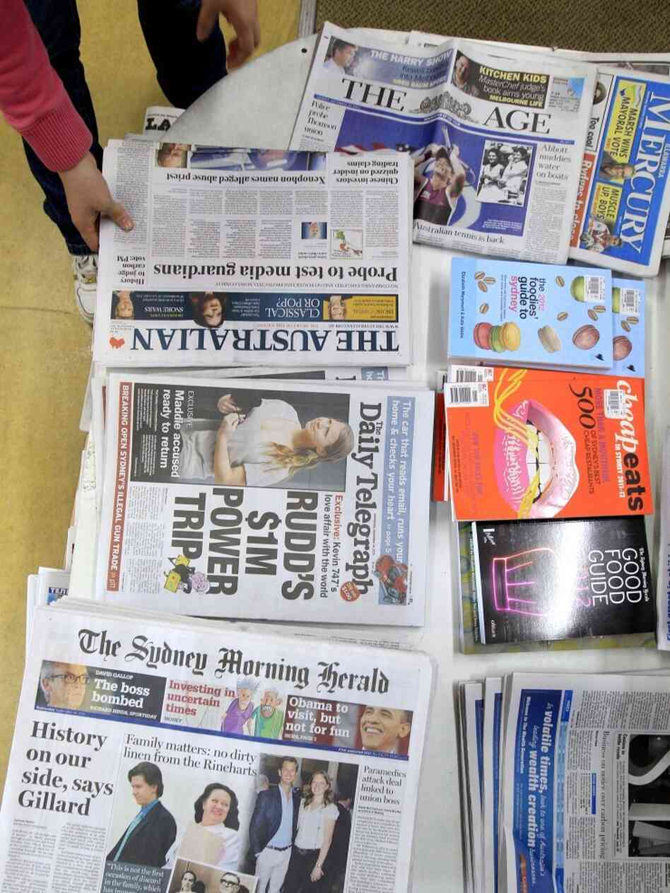 Between 6 and 7 of every 10 copies of national and metro papers sold in Australia are owned by News Ltd., News Corp.'s Australian newspaper arm. The company owns The Australian and The Daily Telegraph; while The Age and The Sydney Morning Herald are owned by rival Fairfax Media.