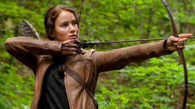 Jennifer Lawrence as Katniss Everdeen in a promotional images for The Hunger Games.