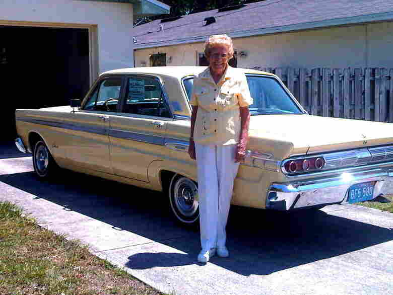 "Rachel Veitch and ""Chariot,"" her 1964 Mercury Comet Caliente."