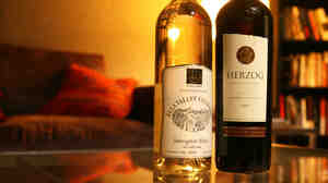The sauvignon blanc 2010 (left) is from the Ella Valley Vineyards in Israel and has a fresh, vibrant and fruity flavor. The Herzog 2007 Special Reserve cabernet sauvignon (right) is from the Alexander Valley of California. It's a mevushal bottle that remains kosher even if served by a non-Jew.