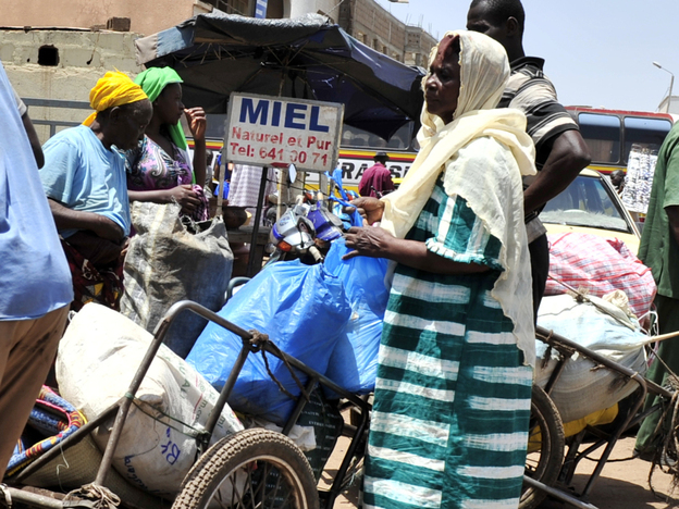 People arrive from the northern city of Timbuktu on April 4, 2012 at a station in Bamako after two days travel. World leaders scrambled to stop Mali's descent into chaos, two weeks after a coup in Bamako touched off a sequence which saw Tuareg rebels backed by radical Islamists conquer half the country. (AFP/Getty Images)