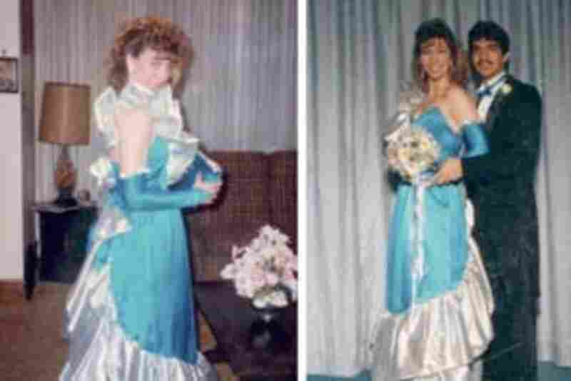 """Martrese White, 1986: """"Not at ALL awkward! I planned for months to create this silver lame and turquoise wonder. I now see it as a mashup of Ziggy Stardust meets Scarlett O'Hara, though at the time, I was incredibly proud of my creation."""""""