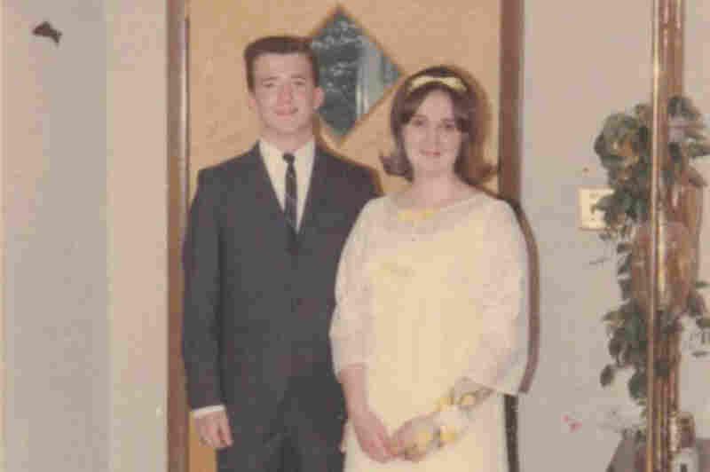 "Bob Wilson, 1966: ""Bob Wilson and Ursula Seelig, on the way out the door. Both nervous — he more than she. ... Lakeland High School, Shrub Oak, N.Y."""