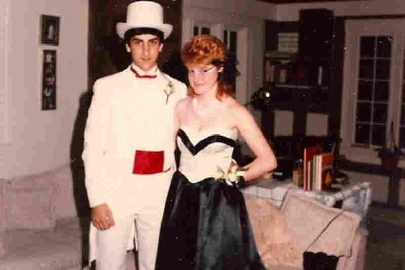 "Mich Sullivan, 1985: ""Me and my buddy Russ ... Weston High junior prom, Weston, Mass."""