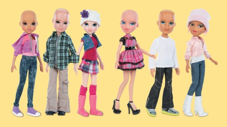 Toys 4 Brats : Barbie and her toy box pals go bald for a cause npr