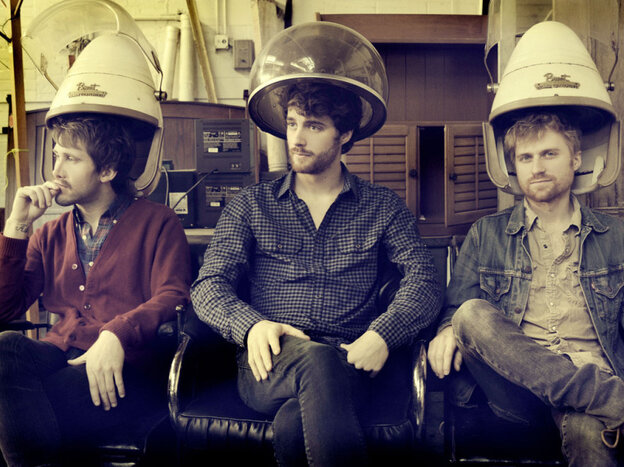 Jesse Kristin, Ben Thornewill and Tommy Siegel of Jukebox the Ghost.