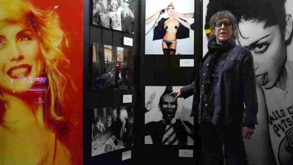 Mick Rock gives a tour of his photographs at the opening of his traveling show, Rocked, at the W Hotel in Washington, D.C.