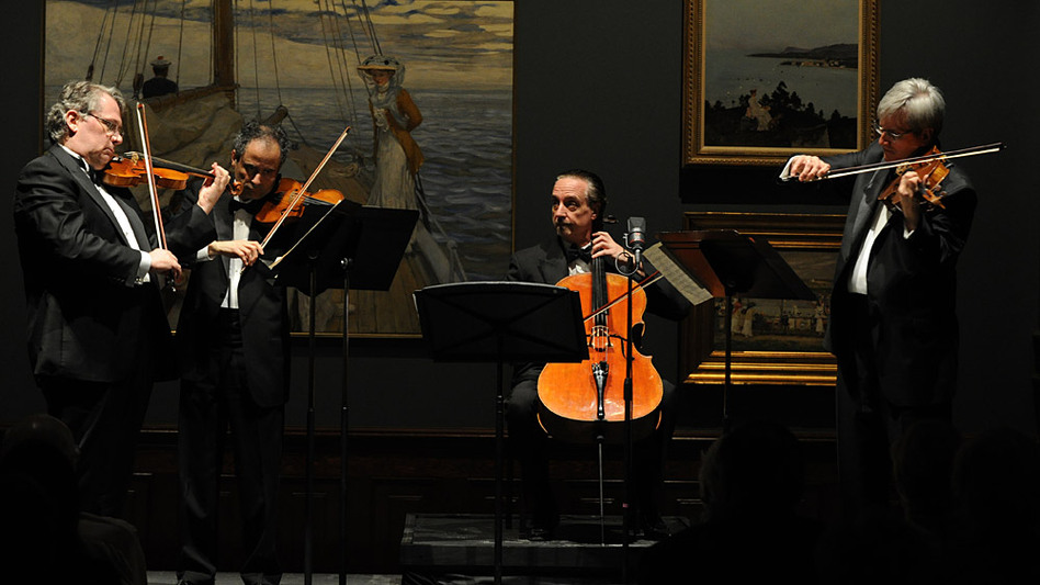 The Emerson Quartet play Beethoven at the Savannah Music Festival. From left: Philip Setzer, Eugene Drucker, David Finckel and Lawrence Dutton