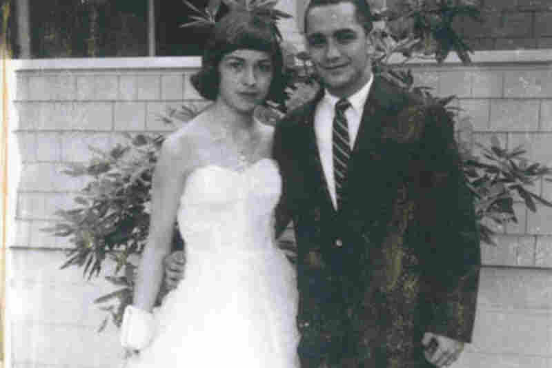 "Donna-Lee Phillips and Ralph Agnello, 1959: ""Senior prom, Deering H.S., Portland, Maine"""