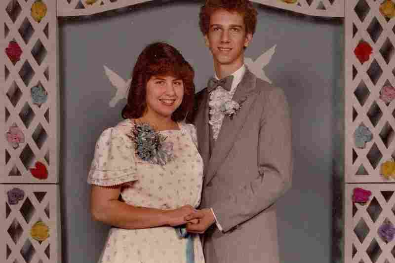"Jim Simandl, 1983: ""The theme song of our prom was 'On the Wings of Love' by Jeffrey Osborne. Hence the winged paper doves on the backdrop."""