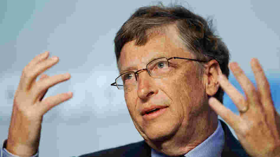 Bill Gates addresses an energy innovation summit in Maryland in February. The Microsoft chairman told NPR in an interview for Weekend Edition that teachers should be evaluated, but that the reviews should not be made public.
