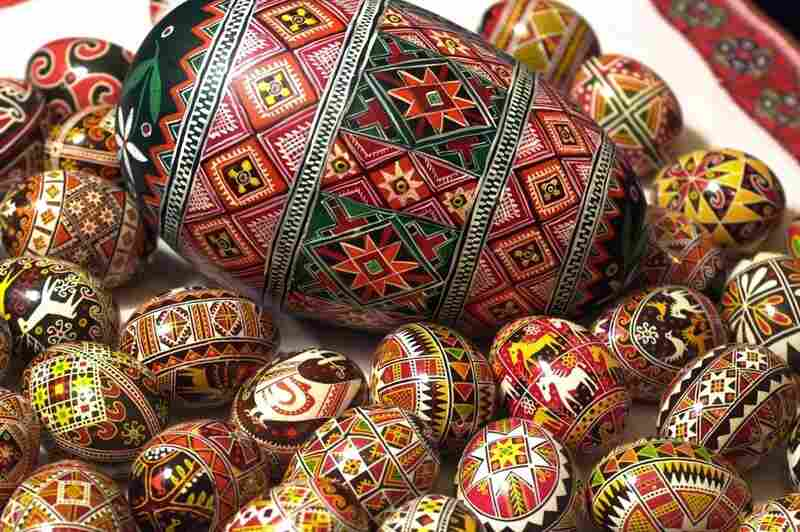 Pysanky were intended ward off evil and bring good fortune.