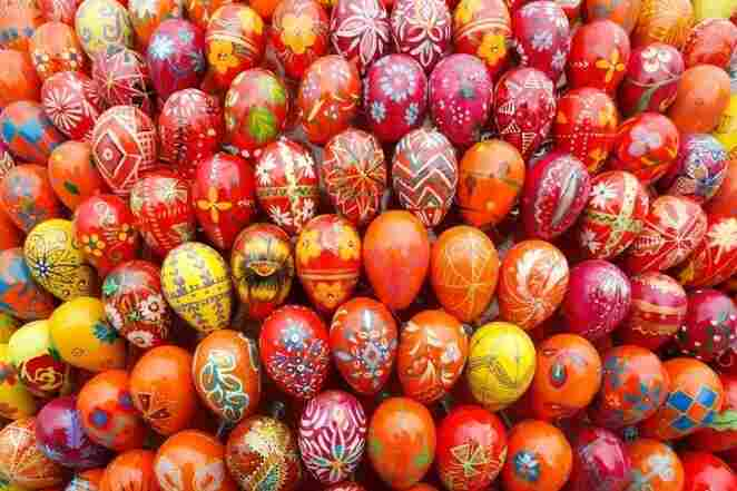 Ukrainians have been crafting pysanky, elaborately decorated eggs, for thousands of years. This 3,000-egg sculpture by Ukrainian artist Oksana Mas offers a modern interpretation of traditional designs.
