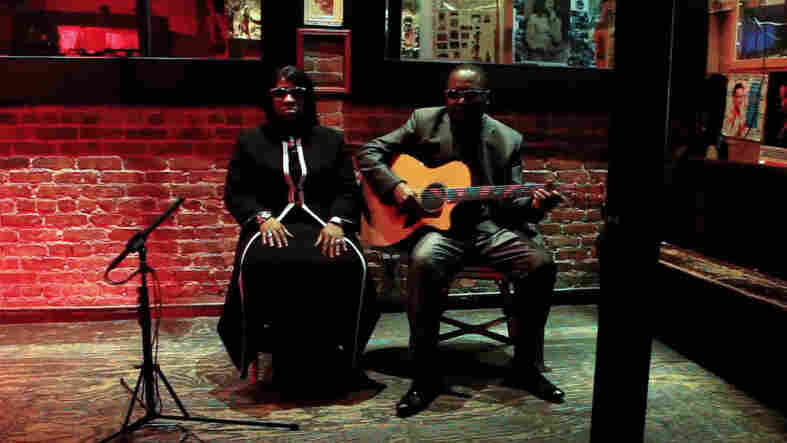 Amadou and Mariam perform at Shrine World Music Venue in Harlem, New York City.