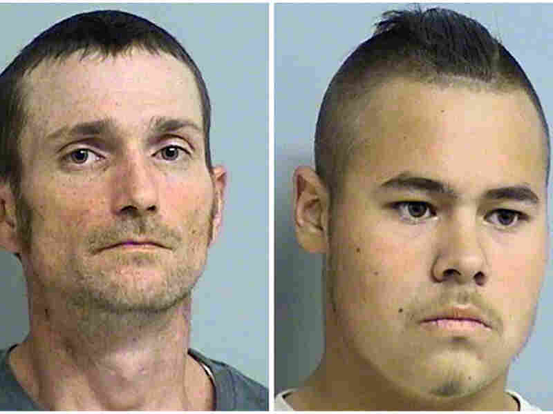 Alvin Watts (left), 33, and Jacob England, 19, were arrested following an appeal to the public to help police solve the five shootings that happened Friday. A police spokesman said the two face three counts of first-degree murder and two counts of shooting with intent to kill.