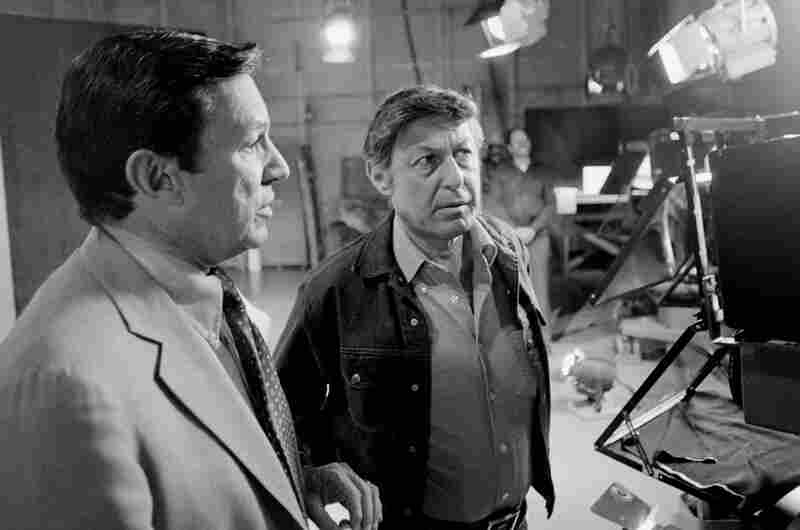 """Wallace was the first man hired when CBS news producer Don Hewitt, right, put together the staff of """"60 Minutes."""" The show wasn't a hit at first, but worked its way up to the top 10 in the '70s."""