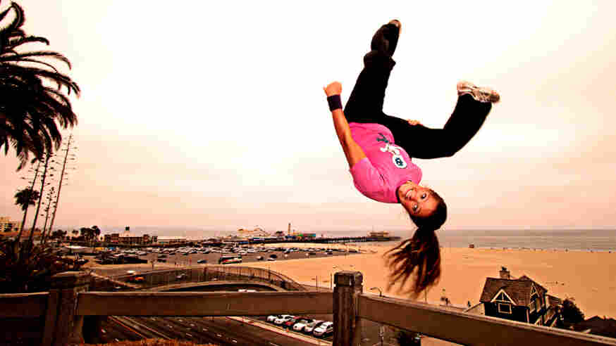 """Luci """"Steel"""" Romberg is a stuntwoman and one of the world's top female freerunners."""