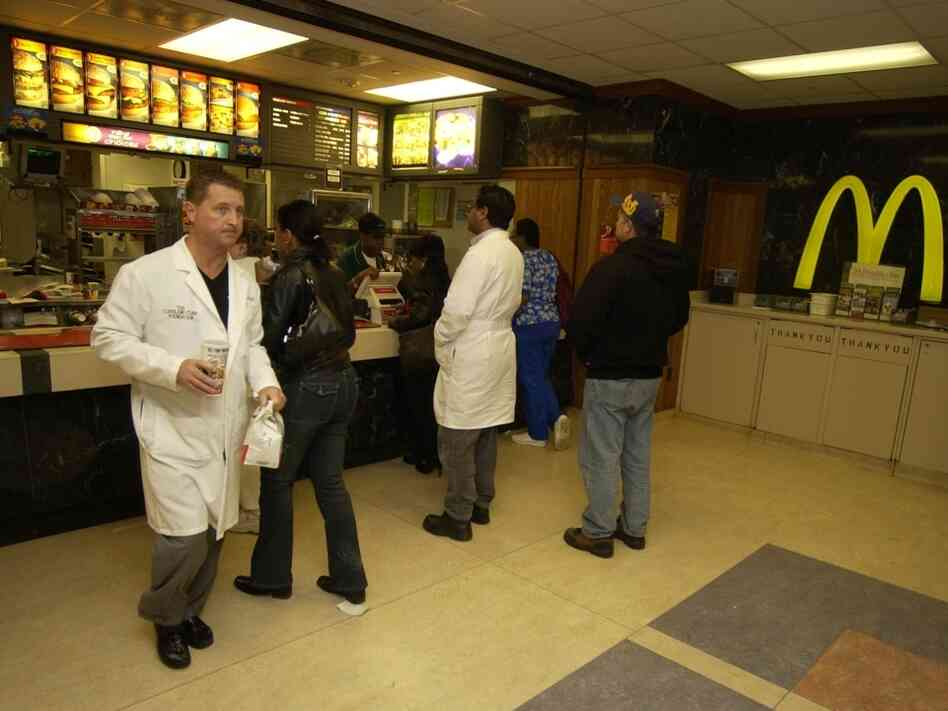 The McDonald's inside the Cleveland Clinic, 2004, in Cleveland.