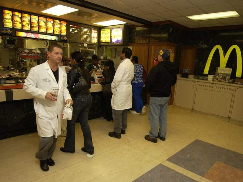 Fast Food Chains In Cafeterias Put Hospitals In A Bind : The Salt : NPR