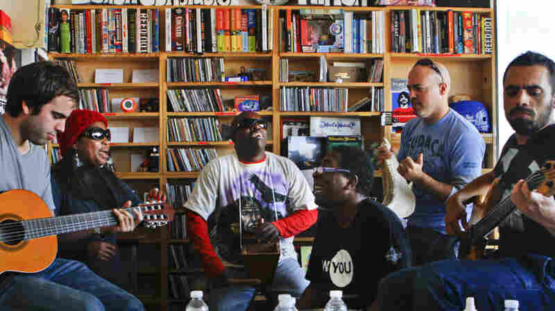 Afro-Peruvian band Novalima performs a Tiny Desk Concert on Jan. 12, 2012.