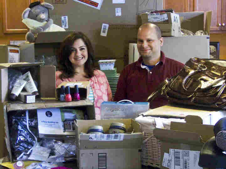 Anne and Andrew Houseman say they don't mind all the boxes that come with their online purchases.