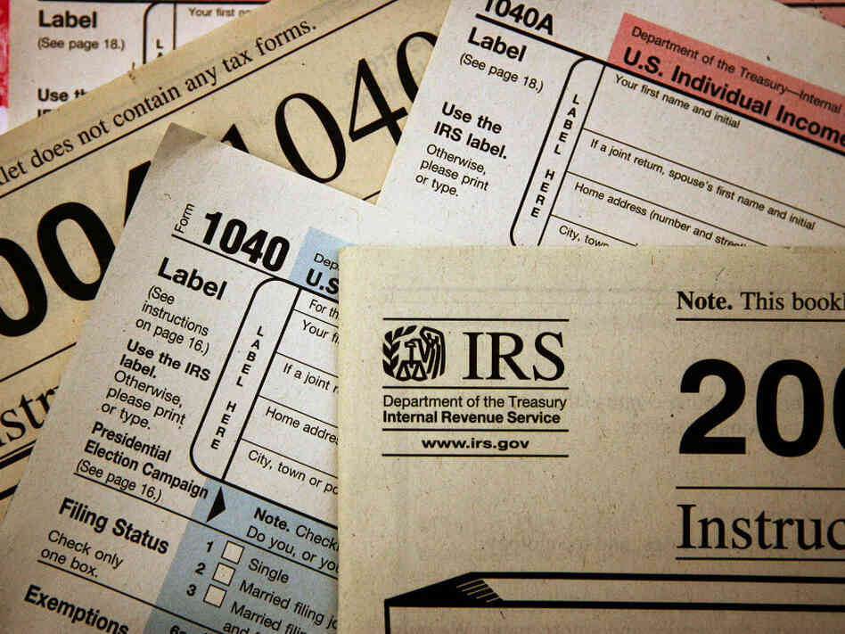 CHICAGO - NOVEMBER 1: Current federal tax forms are distribut
