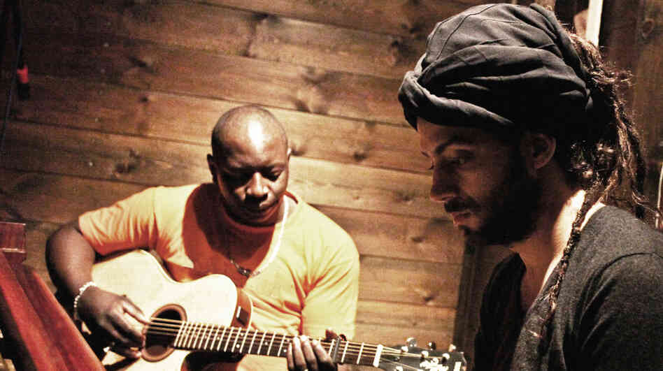 Vieux Farka Toure (left) and Idan Raichel, collaborating as The Toure-Raichel Collective, released The Tel-Aviv Session on March 26.