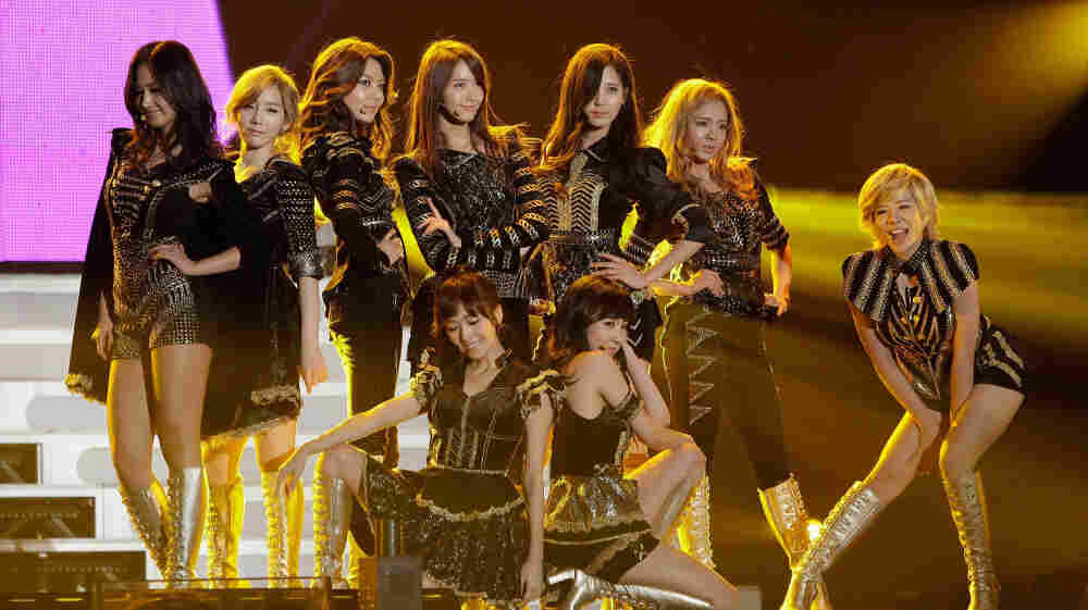 South Korean girl group Girls' Generation onstage during the Seoul Music Awards in January.