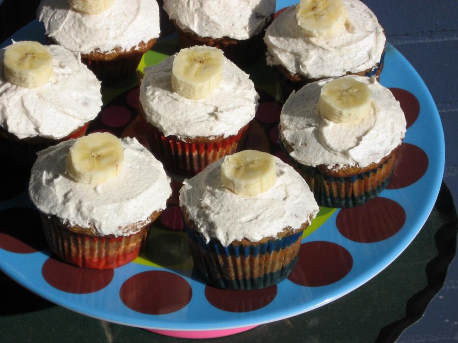 Recipe: Banana Cupcakes With Honey-Cinnamon Frosting : NPR