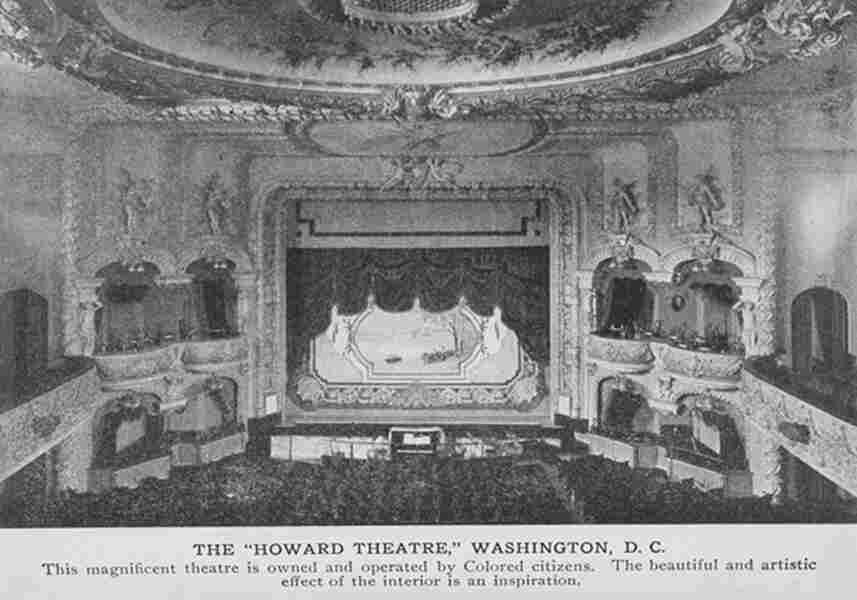 The interior of the Howard Theatre, as it appeared in 1917.