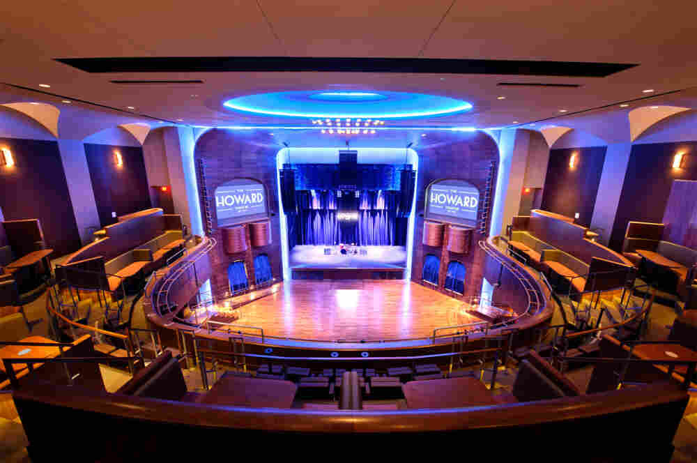 The restored interior of the Howard Theatre.