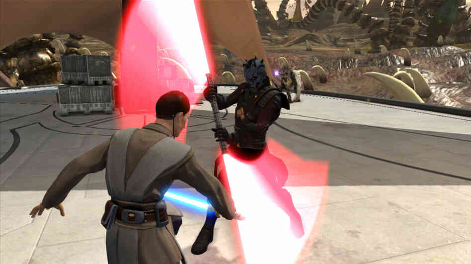 You can battle with lightsabers in the new game Kinect Star Wars.