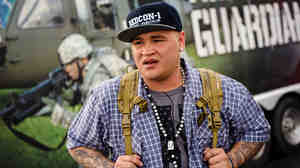 """In 2010 US Army veteran Jeff Barillaro returned from Iraq with severe PTSD. Since then Barillaro, whose stage name is """"Solider Hard,"""" has been rapping about his struggles and performing for troops, veterans, and military families across the US."""