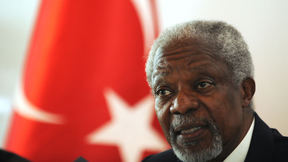 International envoy Kofi Annan said Tuesday it was too early to give up on a peace plan he has brokered for Syria despite renewed fighting. He gave a press conference after visiting a refugee camp in southern Turkey.