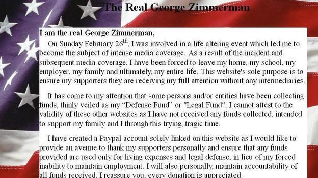 (TheRealGeorgeZimmerman.com)
